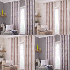 Catherine Lansfield Skandi Leaves Eyelet Lined Curtains