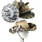 New Camouflage Mesh Sun Cap Hats Bucket Outdoor Hunting Fishing Camping Unisex