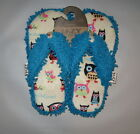 New Fun Soft Fringe Thong Spa Slippers With Owls by Lazy One I'm Owl Yours