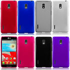 LG Optimus F7 US780 Frosted TPU CANDY Flexi Gel Skin Case Cover +Screen Guard