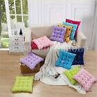Handmade Square Soft Dining Chair Seat Pad Filled Ties Cushion Decor 3 Styles