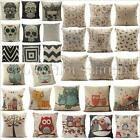 Linen Home Decor Sofa Throw Pillow Case Square Pillowcases Car Cushion Cover