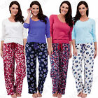 Ladies Pyjamas Set Long Sleeve Bottoms Lounge Pjs Soft Warm Cosy Pajamas Winter