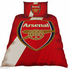 ARSENAL FOOTBALL CLUB 'STRIPE CREST' SINGLE BED DUVET QUILT COVER FC BEDDING SET