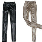Fashion Hot Women Sexy Faux Leather Leggings Pants Trousers Tights Black Beige Z