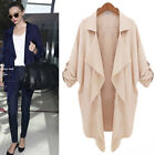 Fashion Women's Cape Poncho Tops Cardigan Long Sleeve Coat Jacket Blouse Outwear