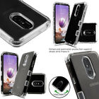 For AT&T Avail 2 Hard Gel Rubber KICKSTAND Case Phone Cover + Screen Protector