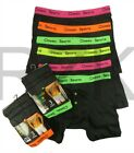 6 Pairs Of Boys Men's Neon Boxer Shorts, Easy Care Classic Boxers Underwear