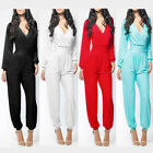 Sexy Women's Cocktail Career Long Sleeve Bandage Jumpsuits High Waist Long Pants