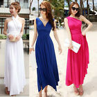 Elegant Lady Summer Long Beach Sundress Cocktail Evening Prom Party Dress 4Color
