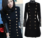 Hot Womens Slim Fit Casual Double Breasted Trench Coat Long Jacket Military Coat
