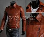 ON SALE 2015 NEW Fashion Men's leather Style coats jackets Zipper Top Outerwear