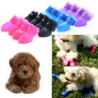 Cute Dog Boots Waterproof Protective PVC Pet Rain Shoes Booties Candy Colors