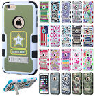 "For Apple iPhone 6 6S Plus 5.5"" Rubber IMPACT TUFF HYBRID KICK STAND Case Cover"