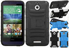 For HTC Desire 510 HYBRID KICKSTAND Rubber Silicone Case Phone Cover