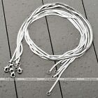 5pcs Lot White Gold Plated Flat Herringbone Chain Necklace For Pendant Jewelry