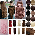Good New Women curly/Wavy Long extentions 5 clips in hair synthetic hairpiece NP