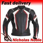 RST R-14 1088 BLACK RED FULL GRAIN LEATHER STREET SPORTS MOTORCYCLE JACKET