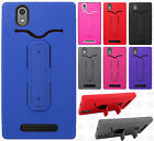 For T-Mobile ZTE ZMAX Z970 Rubber Hybrid HARD Case Snap Tail STAND +Screen Guard