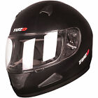 Tuzo Mach1 Solid Gloss Black Motorcycle Helmet Full Face Scooter Crash Motorbike
