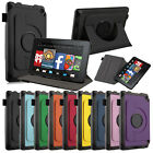 For 2014 Amazon Kindle Fire HD 6 Tablet Rotating Leather Case Folio Stand Cover