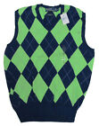 $185 Polo Ralph Lauren Mens Navy Blue Green V Neck Golf Sweater Vest S M L XL 2X