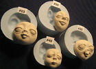 YOUR CHOICE  - Flexible FOOD GRADE Silicone Press Mold of Female Doll Face Cab  image