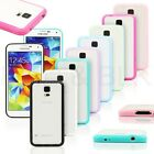 Hybrid TPU Bumper Frame Clear Hard Case Cover for Samsung Galaxy S5 SV i9600