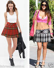 Labreeze 12 inch Tartan Check Pleated Mini Short Hipster Kilt Skirt Red & Black