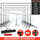 Heavy Duty Backdrop Background Support Stand Kit for Photography Studio Lighting