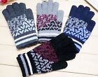 5 Pairs Mixed Colors Letter Mens Imitation Wool Warm Gloves (2 letters)