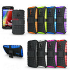 Hybrid Impact Armor Rugged Case Stand Cover For Motorola Moto G 2nd Gen XT1068
