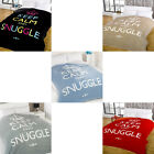 Dreamscene Keep Calm And Snuggle Mink Faux Fur Throw
