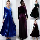 Ever Pretty Ladies Vintage Long Sleeve Winter Maxi Evening Cocktail Velvet Dress