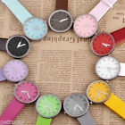 Concise Simple Style Dalas Fashion 3 Hand PU Band Quartz Watch Womens Girls Gift