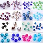 300x 3mm 4mm Faceted Crystal Glass Loose Bead Bicone Charm Bracelet Making DIY