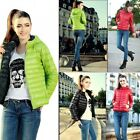 Women Winter Quilted Candy Color Thin Short Down Puffer Coat Jacket Outerwear