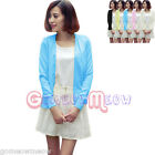 Womens Lady Candy Colors Sweater Knit Top Cardigan Shirt V Neck Long Sleeve