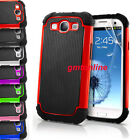 Heavy Duty Impact Rugged Hard Case Cover + Screen For Samsung Galaxy S3 i9300