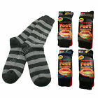 Mens Feet Heater Thick Stripey Socks Warm Winter Ultra Thermal 2.2 TOG