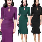 New Celebrity Women Vintage Bodycon Cocktail Party Evening Mermaid Stretch Dress
