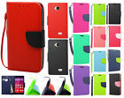 For Virgin Mobile LG Tribute Leather 2 Tone Wallet Pouch Flip Case +Screen Guard