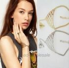 Fashion Slave Chain Hand  Bracelet Ring Silver/Gold Plate  Gift