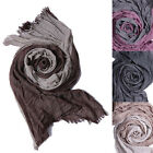 MOGAN Exclusive Ombre Crinkle Acrylic Ultra Soft Two-Toned Long Scarf Wrap NEW