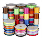 2/25/50YDS 3MM 6MM 9MM 16MM 38MM Double Face satin ribbon wedding many colors fo