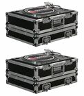 (2) Odyssey FR1200E ATA Universal Pro DJ Turntable Flight Road Cases