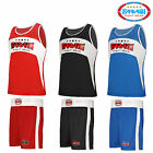 Farabi Boxing Vest and Shorts Uniform MMA Training Loose short Red Black Blue