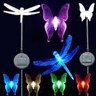 2x Solar Garden Stake Lights- Bee, Dragonfly, Butterfly, Lily Flower, Angel
