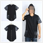 Cotton Leather Zipper KAO Clothing KTZ CASUAL Street Tyga Tee T Shirt With Hood