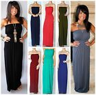 MIRACLE FIT MAXI DRESS STRAPLESS MAXI SEAMLESS LONG LENGTH JERSEY KNIT 7 COLORS!